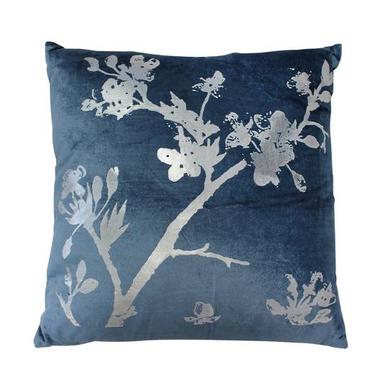 NZ Merchants -  Chinoise Blossom Cushion - Blue